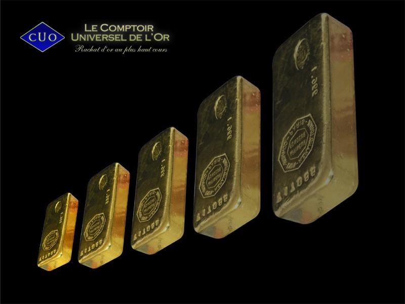 Prix du lingot d 39 or fin d cembre 2011 le comptoir - Comptoir universel de l or ...