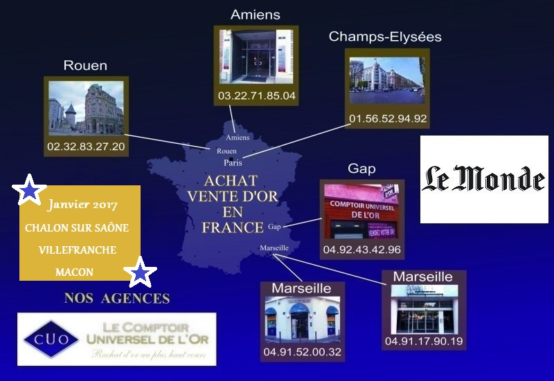 rachat or et argent, achat vente d'or France au meilleur prix