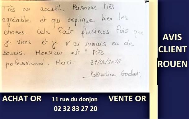 Avis Clients du comptoir d'achat or Rouen