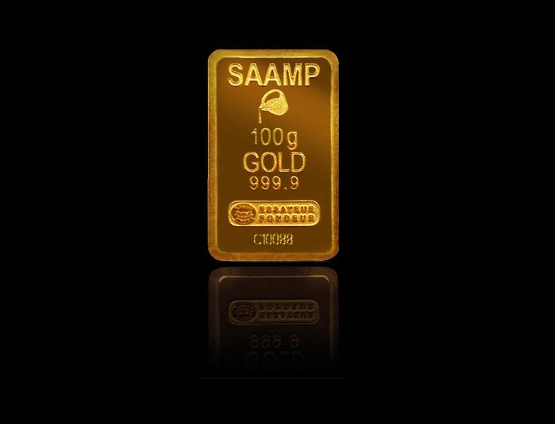 vente de lingotin de 100 grammes d'or fin