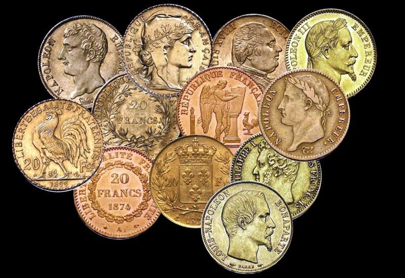 cours des pièces d'or