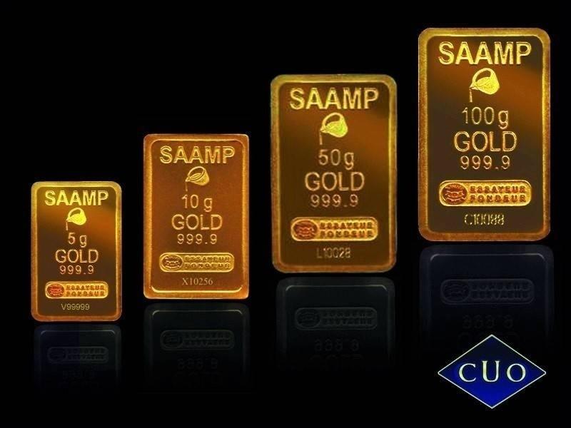 vente lingotin et lingot d'or Comptoir Universel de l'or