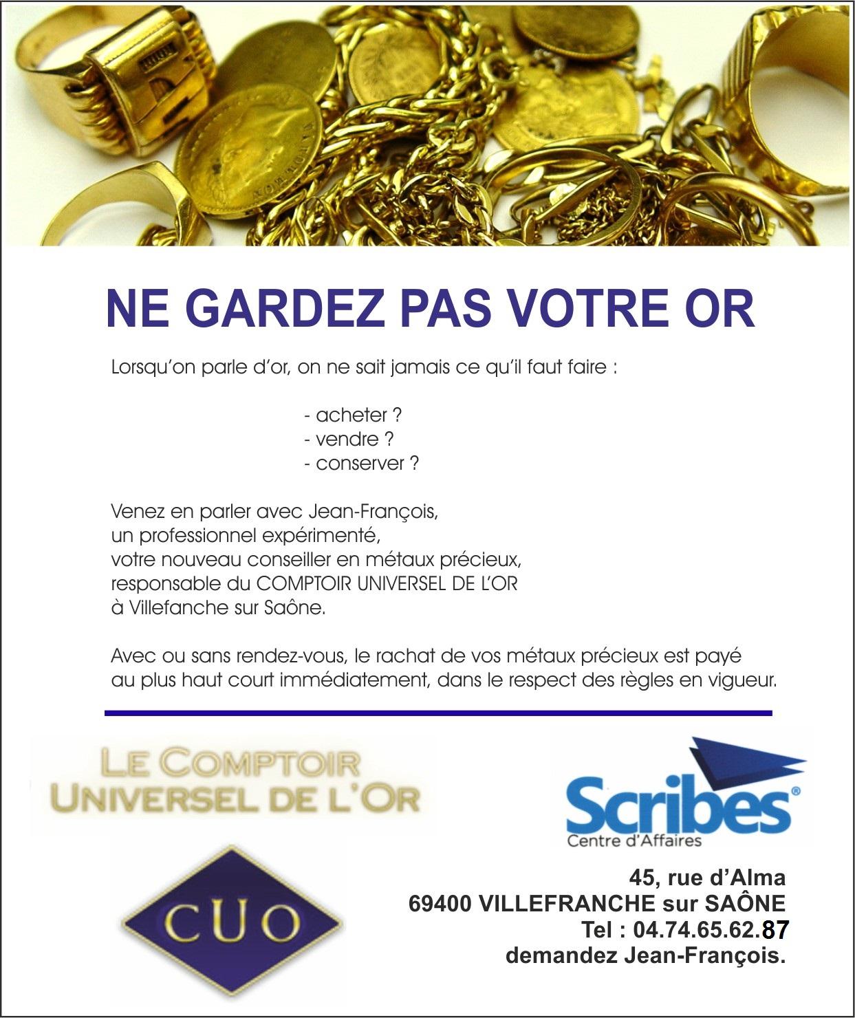 Pour venir vendre ses bijoux villefranche sur sa ne l - Comptoir universel de l or ...