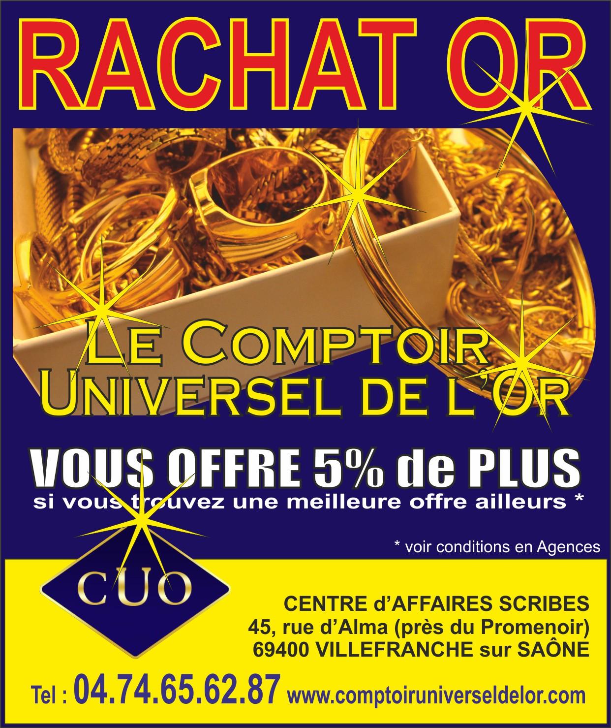 Bon plan achat or villefranche m con chalon sur sa ne - Comptoir universel de l or ...