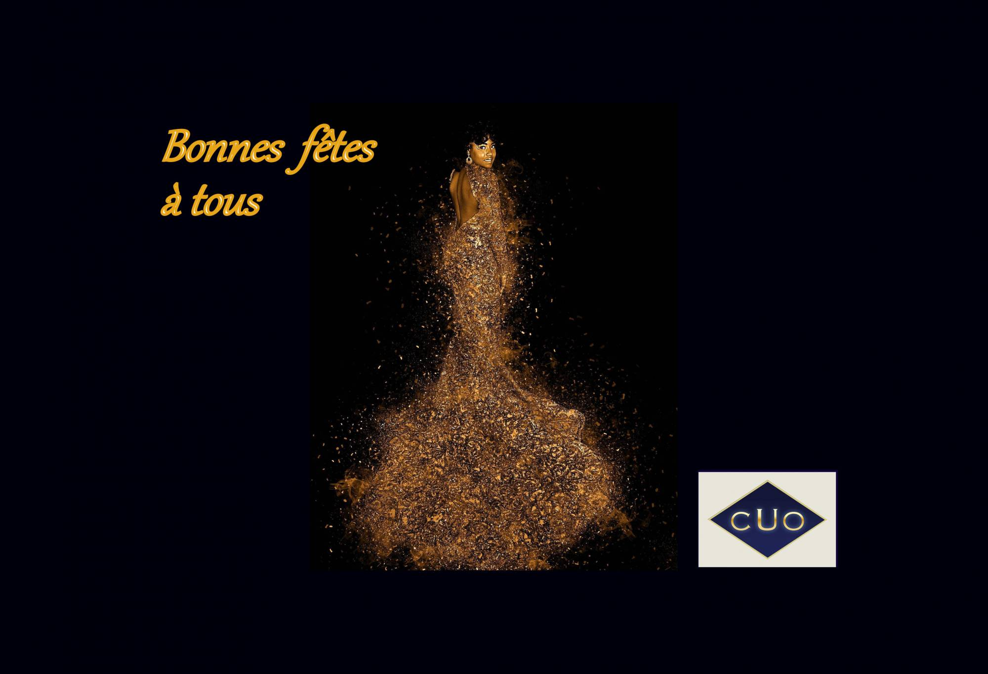 Spécial fêtes: Chic, la tenue or, pour le Comptoir Universel de l'Or Paris