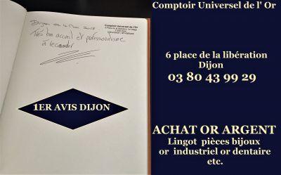 """Le premier avis client de notre comptoir d""""achat or argent Dijon"""