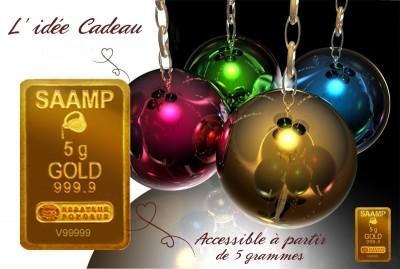 à Gap notre comptoir d'achat d'or vend aussi le plus beau des cadeaux: un lingotin d'or pur!