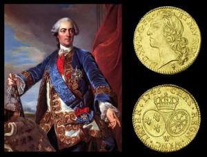 Rachat d'or. Monnaie de colection. Louis XV