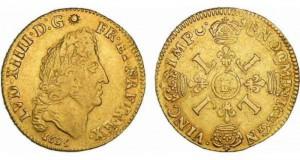 Rachat d'or. Monnaie de colection. Louis XIV 4 L