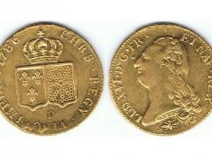 Achat piéces de monnaie en or. Louis XIV Buste nu