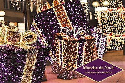 Marché de Noël féérique par Edouard, responsable du comptoir de vente et d'achat or Amiens