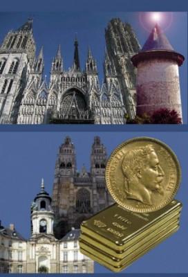 Rouen Amiens achat lingot d'or