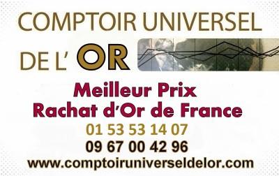 plus au cours du marché de l'or dans la petite couronne de Paris