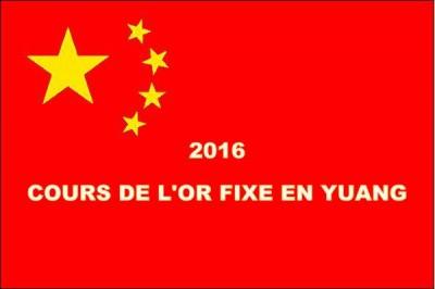 Un cours de l'or fixé en yuan