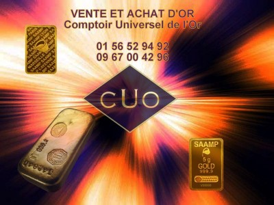 Cours de l 39 or la hausse et vente de lingot en 2016 - Comptoir universel de l or ...