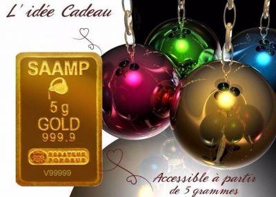 un lingotin en or massif 24 carats en cadeau