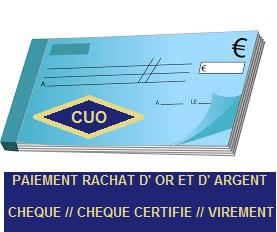 Quel est le mode de règlement pour mon rachat d'or à Villefranche/Saône, Mâcon et Chalon ?
